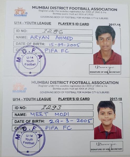 Both the Steadfast (Mumbai Rush) players are registered under PIFA's team