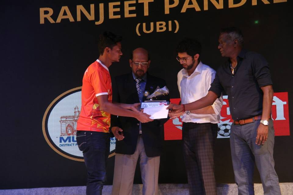 Best Striker of MDFA Elite Division - Ranjeet Pandre