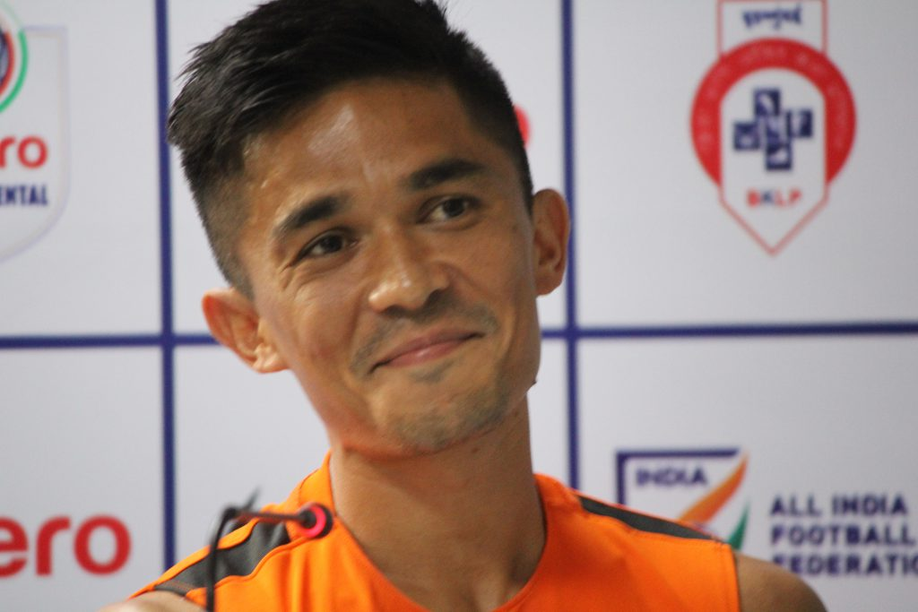 """I had a dream but never dreamt of playing 100 International matches. This is unbelievable,"" National Team captain Sunil Chhetri said prior to Team India's practice session at the Mumbai Football Arena on Sunday (June 3, 2018)."
