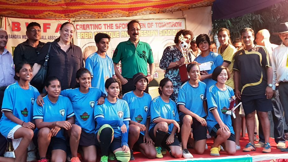 The PIFA Sports FC women's team lifted the Bandra West Football Association (BWFA) Women's League Trophy 2018 on Sunday 28 October 2018.