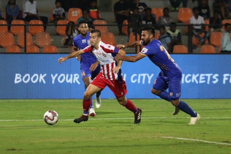 Manuel Lanzarote of ATK on the attack during match 38 of the Hero Indian Super League 2018 ( ISL ) between Mumbai City FC and ATK held at The Mumbai Football Arena in Mumbai, India on the 24th November 2018 Photo by: Vipin Pawar /SPORTZPICS for ISL