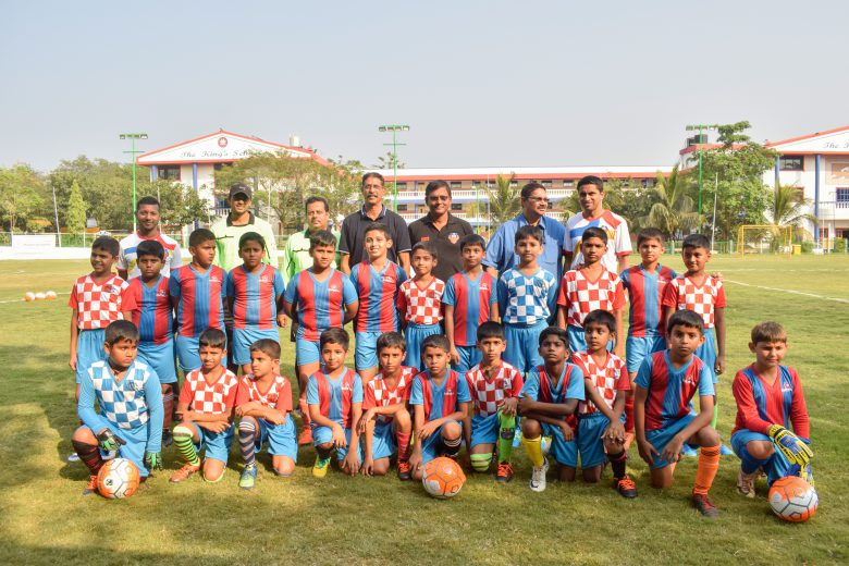 Little Gaurs League nourished in the presence of Brahmanand Sankhwalkar, Arjuna Awardee, Derrick Pereira, Technical Director, FC Goa, Melwin Pereira, Chairman of Kings School and Kenneth Fernandes - Grassroots Manager