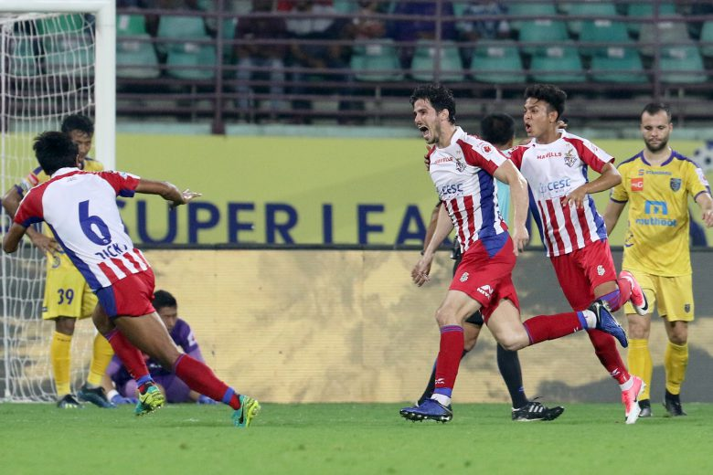 Former Bengaluru FC midfielder Edu Garcia marked his return to ISL in style as his free-kick in the 85th minute gave ATK an unexpected lead, but a Matej Poplatnik goal just three minutes later saw the spoils shared.