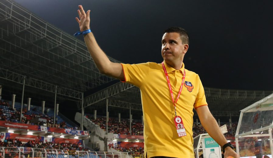 FC Goa Head Coach Sergio Lobera during match 36 of the Hero Indian Super League 2018 ( ISL ) between FC Goa and Bengaluru FC held at Jawaharlal Nehru Stadium, Goa, India on the 22nd November 2018 Photo by: Faheem Hussain /SPORTZPICS for ISL