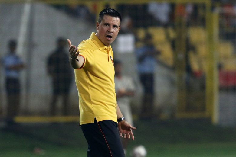 FC Goa Head Coach Sergio Lobera reacts during match 63 of the Hero Indian Super League 2018 ( ISL ) between FC Goa and Jamshedpur FC held at Jawaharlal Nehru Stadium, Goa, India on the 28th January 2019 Photo by: Faheem Hussain /SPORTZPICS for ISL