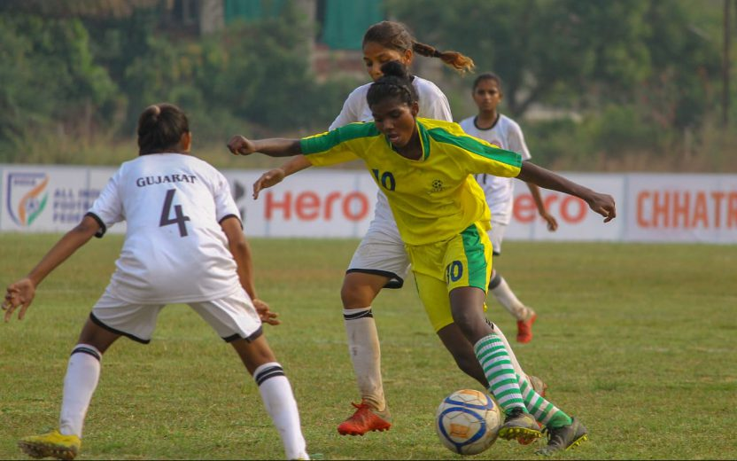 Wearing the jersey number 10 for her state team Jharkhand, 15 year old Sumathi Kumari has taken the tournament by storm with 17 goals in just 4 games.