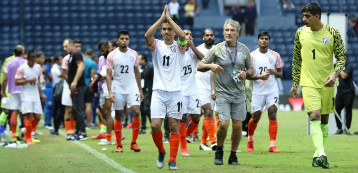 Legendary National Team striker Bhaichung Bhutia congratulated Sunil Chhetri on overtaking his record and becoming India's most capped International