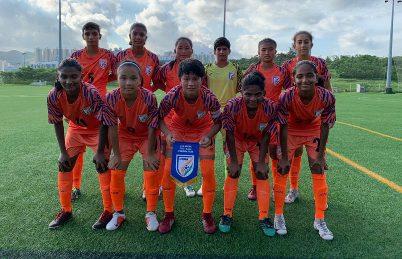 The India U-17 Women's Team rounded off its fourth and final match in Hong Kong with a 4-1 victory over Hong Kong U-18 on Saturday (June 29, 2019) to make it four win