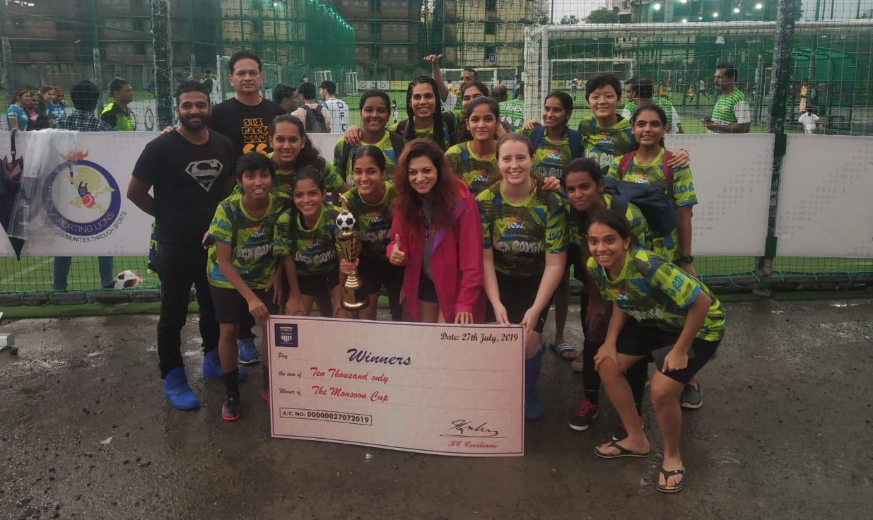 Joga Bonito womens team after the Monsoon Cup victory