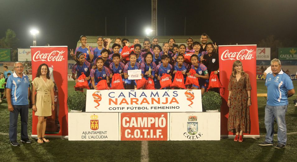 Senior Indian Women's Team has impressed one and all with its performances in the COTIF Cup 2019, so much so that the tournament's President was moved to hand them a special third-placed trophy after the end of the tournament.