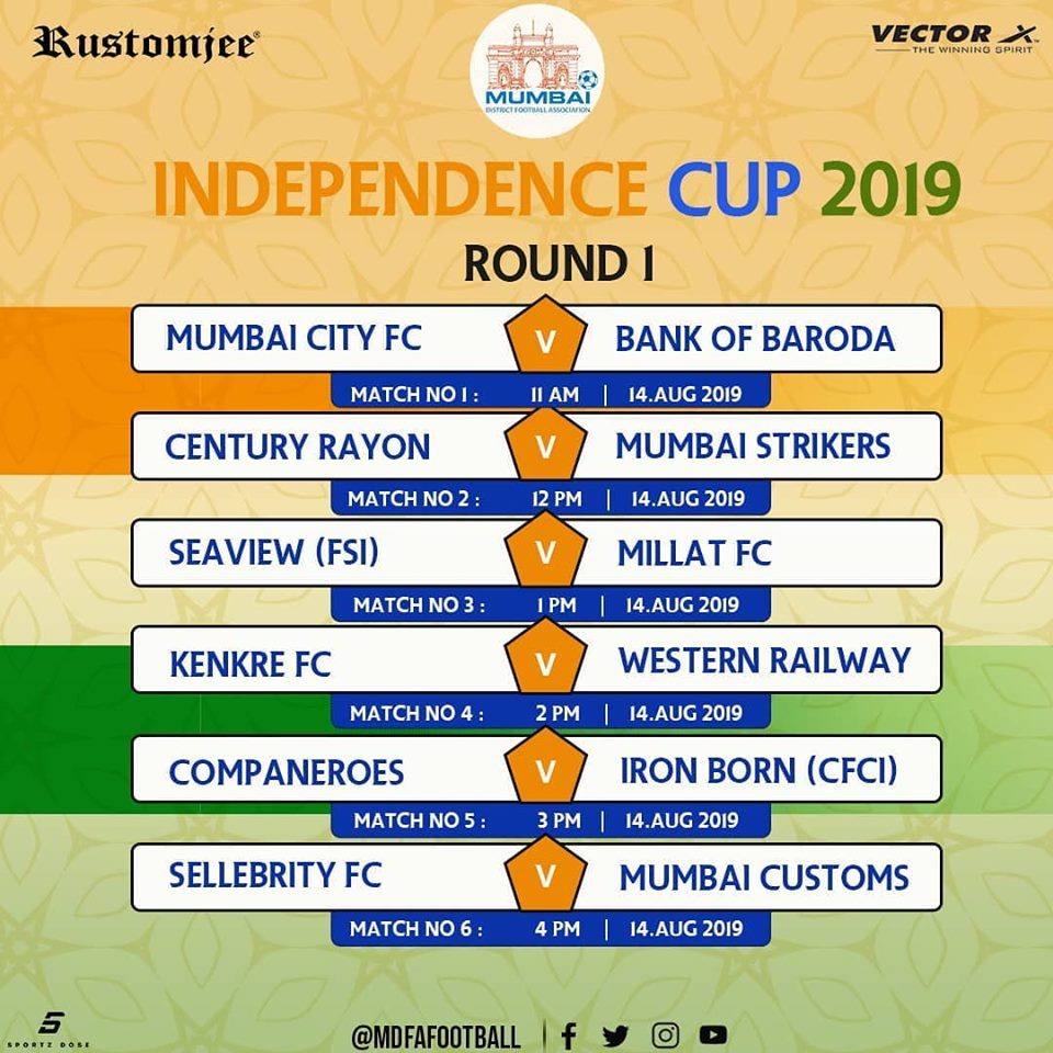 The 2019 edition of MDFA Independence Day Cup is set to go underway tomorrow 14th August at the St. Xavier's Ground, Parel.