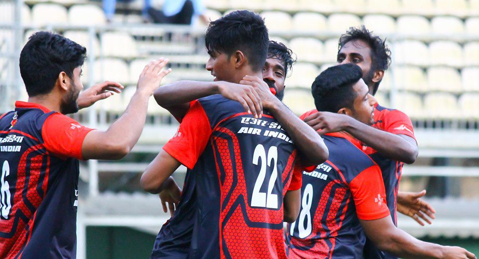 Defending Champions Air India left it late to edge Islanders 2-1, while in the other game RSF Sports Club outclass Kenkre FC