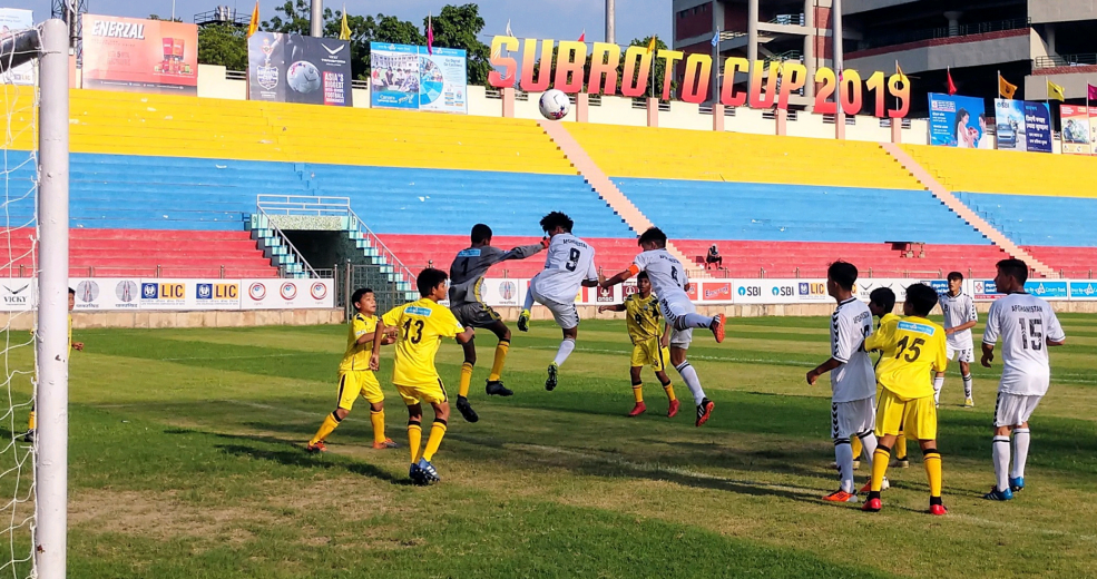 The four semi-finalists for theU14 Sub Junior Boys category ofSubroto Cup has three teams from NorthEast India while the fourth team is Estiqlal School