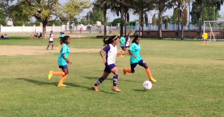 New Delhi, September 1, 2019: In Day 3 of Subroto Cup U17 Junior Girls International Football tournament Pool-B Rosary Higher Secondary School, Navelim, Goa
