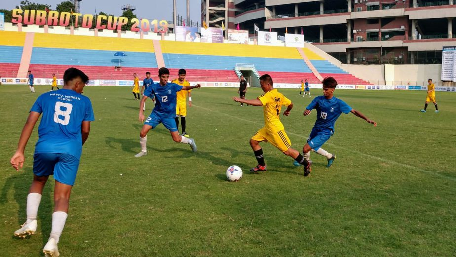 New Delhi, September 9, 2019: Day 3 of the Subroto Cup International Football Tournament U17 Junior Boys saw two high on action matches unfold.