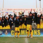 In the final of U17 Junior Boys Subroto Cup International Football Tournament, Hopewel Elias Higher Secondary School, Meghalaya defeated Bangladesh Krida Shiksha Prothishtan (BKSP)