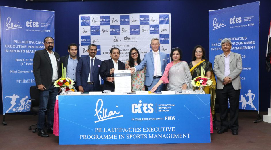 CIES Partners with Pillai Group of Institutions to launch the 1st Edition of the FIFA/CIES Executive Programme in Sports Management in India