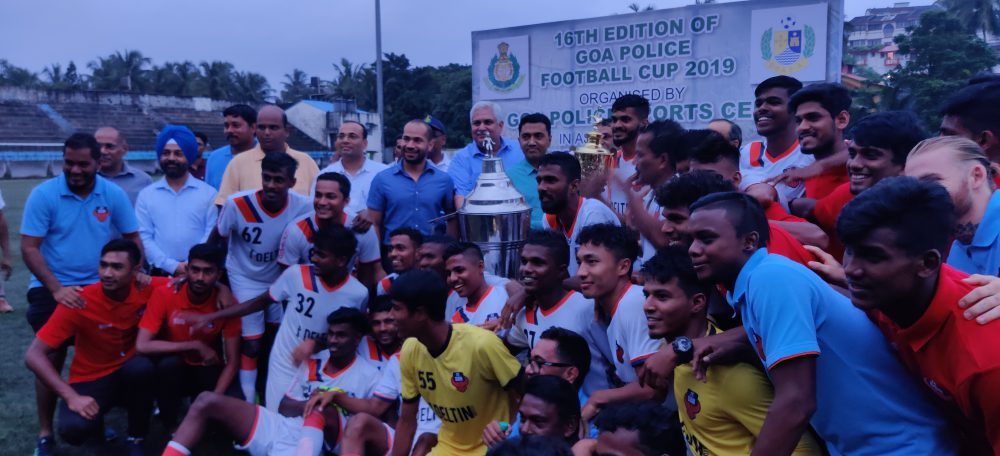 The young Gaurs squad defeated Sporting Club de Goa 6-5 on penalties to lift the Police Cup after normal time ended in 1-1