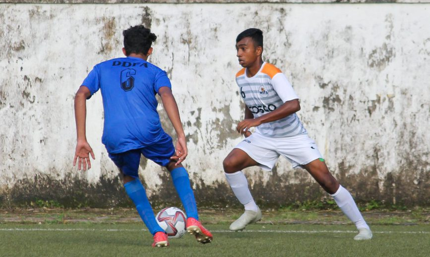 Daman's resilience was finally broken in the dying minutes of the game when Super Sub Advait Shinde slotted home the winner for Maharashtra, meanwhile Services rout Gujarat 7-1