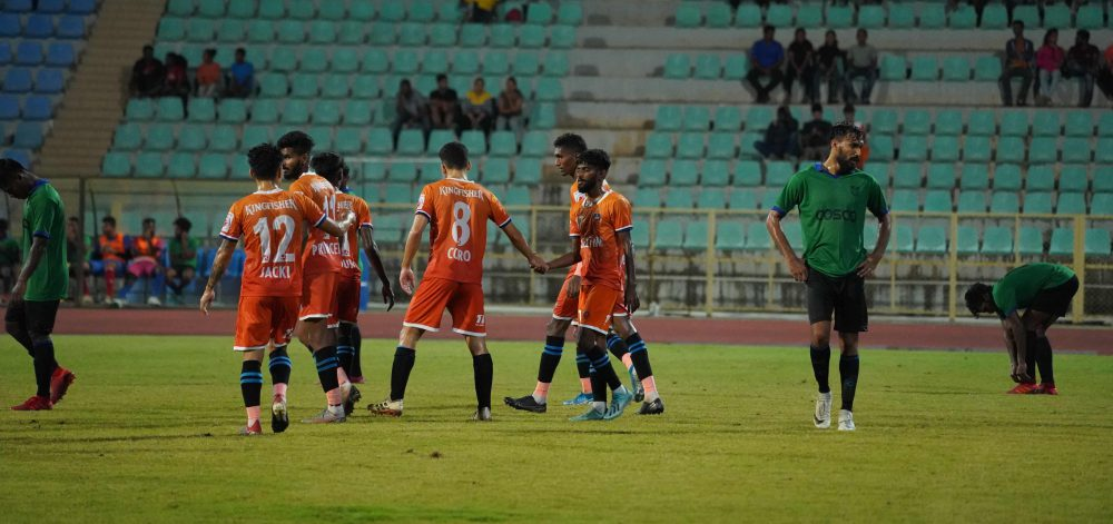 FC Goa defeated the Kerala Santosh Trophy team 6-0 in a pre-season friendly at the Bambolim Athletic Stadium on Tuesday
