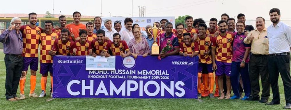 In an exciting finale, RBI beat Atlanta FC to lift the Mohammed Hussain Trophy - a knockout tournament for Super Division clubs of Mumbai Football