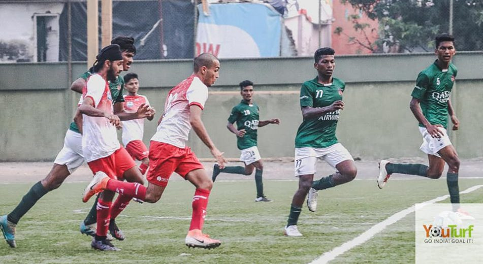 A dominating Kenkre FC smashed four goals past a hapless FSI – Sea View in MDFA Elite Division game played out at Neville D'Souza ground, Bandra