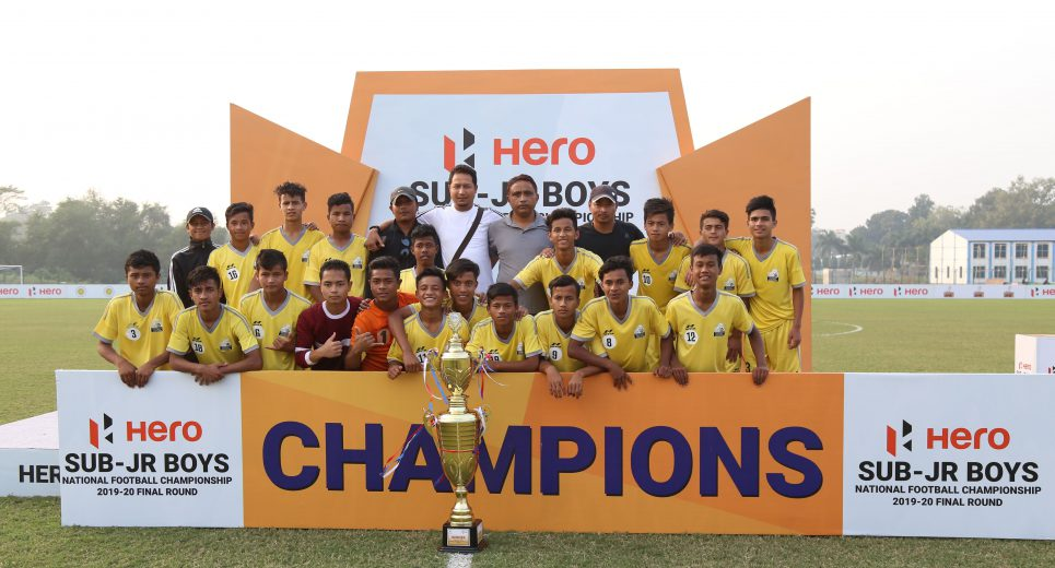 Meghalaya clinched the Hero Sub Junior National Football Championship 2019-20 title, after they beat Arunachal Pradesh by 3-0 in the final
