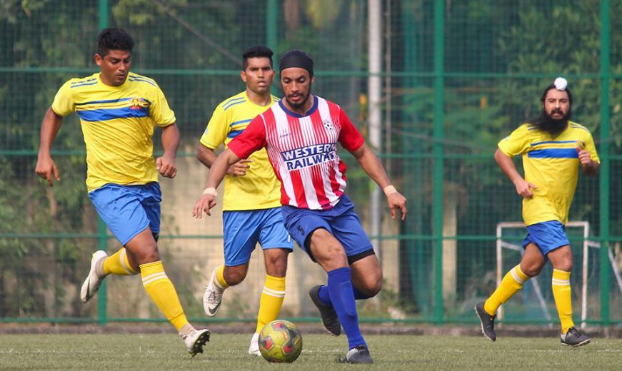 In a thrilling encounter at Cooperage in the MDFA Elite Division (Corporate) Western Railway beat Central Railway 2-1.