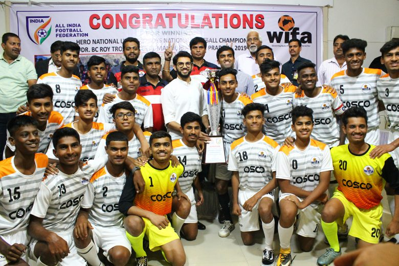 WIFA acknowledged the achievements and felicitated the young Maharashtra football players for emerging champions of Dr. B.C. Roy Trophy (Tier 2)