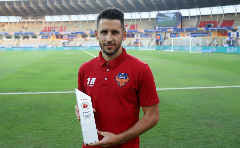 Ferran Corominas, popularly known as Coro has won the Hero Indian Super League 'Hero of the Month' award for December 2019.
