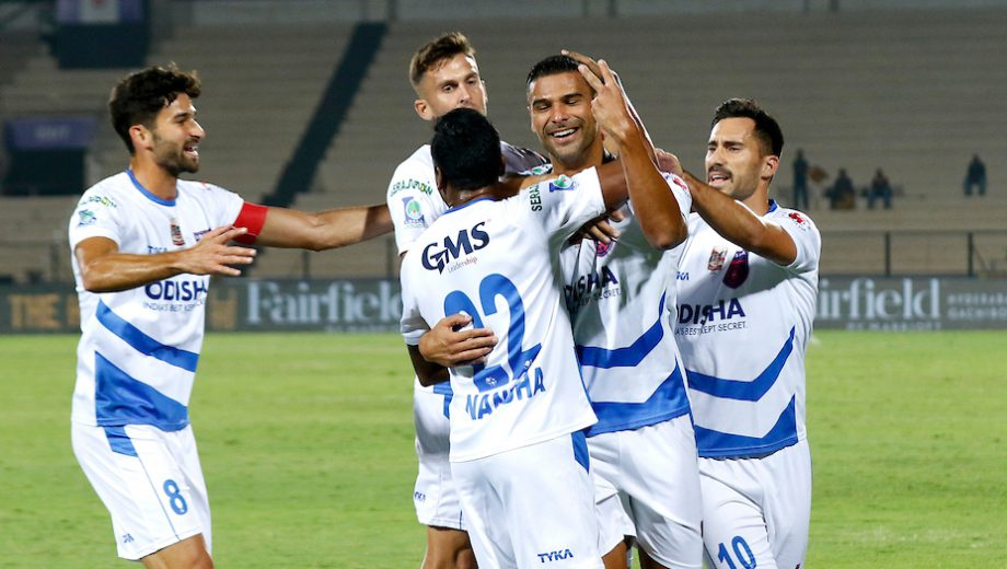 Odisha FC strengthened their playoff hopes with a 2-1 win against Hyderabad FC in a Hero Indian Super League clash at the GMC Balayogi Stadium here on Wednesday.