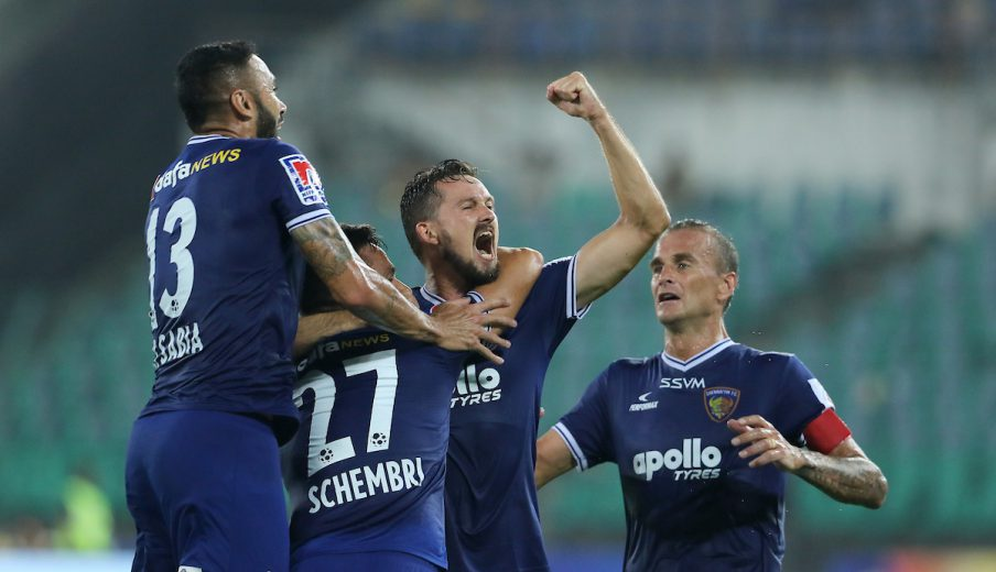Chennaiyin FC boosted their top-four hopes after an emphatic 4-1 win over Jamshedpur FC at the Jawaharlal Nehru stadium here on Thursday.