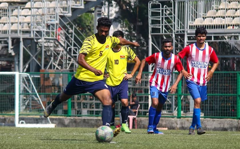 An inspired 2nd half performance saw Iron Born come from goal down to register a 3-1 win while Dinesh Singh brace helps Century Rayon down Western Railway.