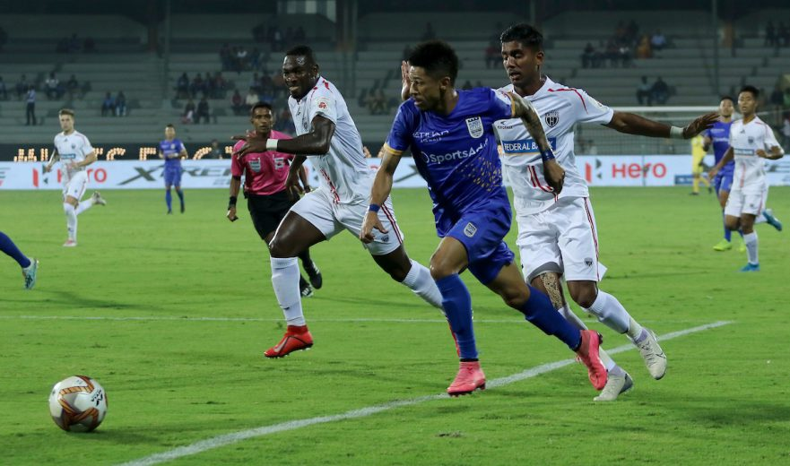 Mumbai City FC did their Hero Indian Super League top-four ambitions a huge favour after a solitary goal win over NorthEast courtesy of Diego Carlos strike