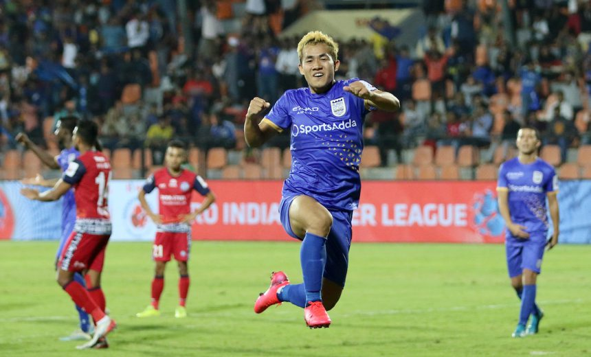 Islanders gave their hunt for play-off spot a massive boost after a dramatic 2-1 win over Jamshedpur FC courtesy of injury time strike from Bidyananda Singh