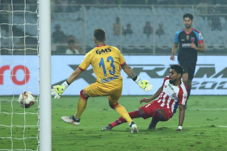 A red hot hat-trick from Roy Krishna powered ATK to a 3-1 win over Odisha FC in a Hero Indian Super League clash at the Vivekananda YBK