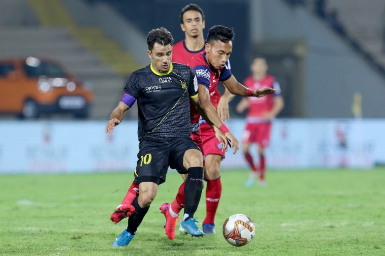Hyderabad FC were denied a win in their final home game of the Hero Indian Super League season after Jamshedpur FC managed a 1-1 draw, thanks to an injury-time equaliser from Sumeet Passi