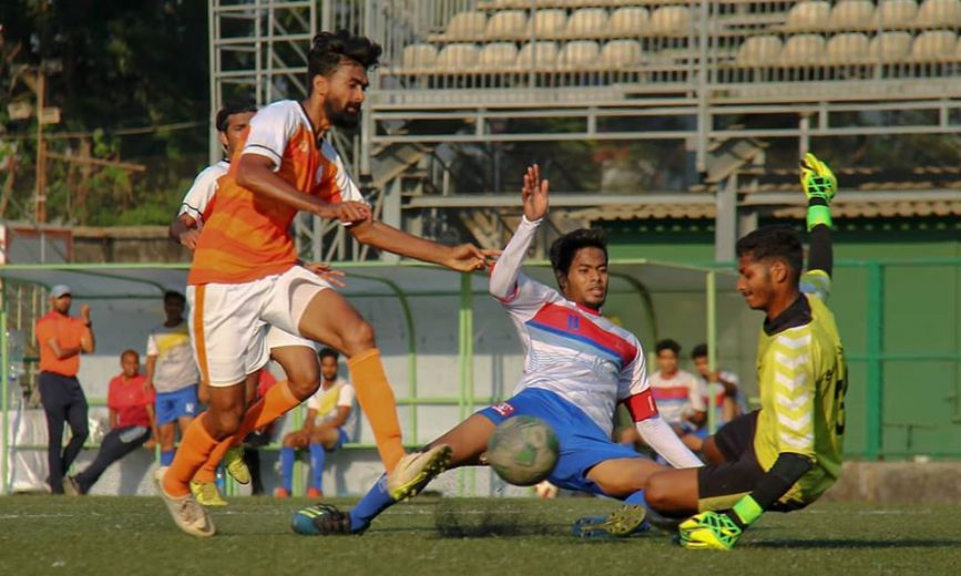 In a highly tense encounter in which both teams were reduced to 10 men for the final half hour, a first half header from Dhruwesh Nijap turned out to be the difference as ONGC edged Bank of Baroda