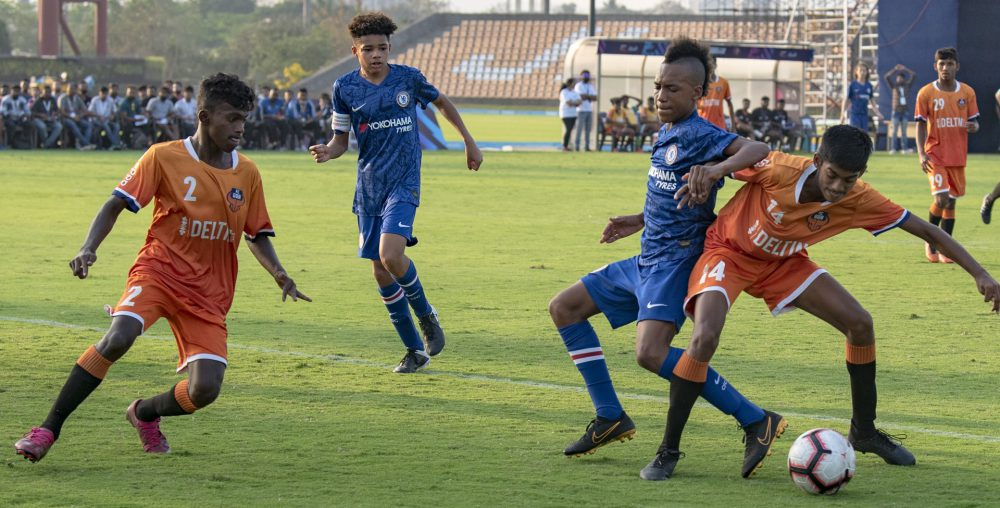 Youth team of Chelsea continued their enviable run of form with a convincing 5-0 win over FC Goa during day 3 of PL-ISL Next Gen Mumbai Cup