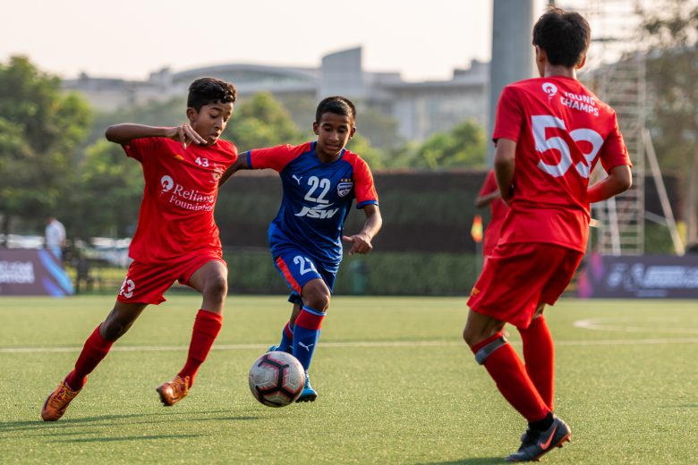 The Reliance Foundation Young Champs managed to find the net in the dying minutes of their thrilling encounter against Bengaluru FC to register a 2-0 victory