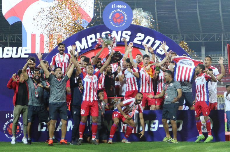 ATK lifted the 2019-20 Hero Indian Super League trophy following a 3-1 win against Chennaiyin FC in the final held at the Jawaharlal Nehru Stadium here on Saturday.